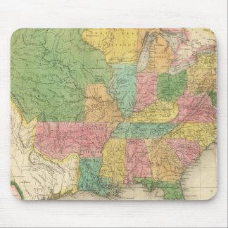 Mapa de la historia de los Estados Unidos de Améri Alfombrillas De Ratones