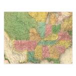 Mapa de la historia de los Estados Unidos de Améri Postal