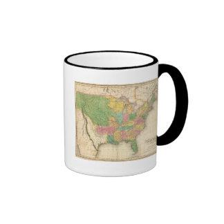 Mapa de la historia de los Estados Unidos de Améri Taza De Café