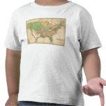 Mapa de la historia de los Estados Unidos de Camiseta