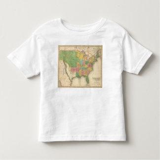 Mapa de la historia de los Estados Unidos de Playera De Bebé