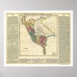 Mapa de la historia de Perú - 1822 Póster