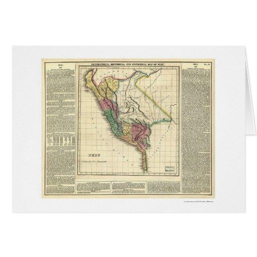 Mapa de la historia de Perú - 1822 Tarjeta De Felicitación