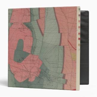 Mapa de la hoja del distrito de mina del parque de