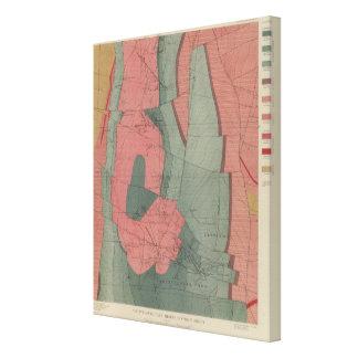 Mapa de la hoja del distrito de mina del parque de impresión en lona estirada