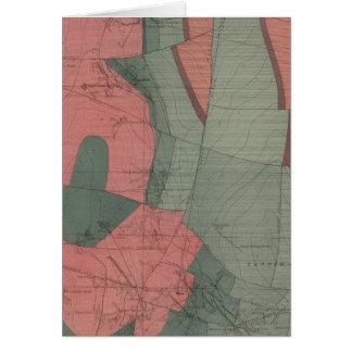 Mapa de la hoja del distrito de mina del parque de tarjeton