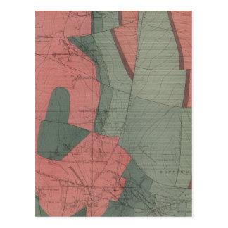 Mapa de la hoja del distrito de mina del parque de postal