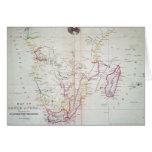 Mapa de la ilustración de Suráfrica Tarjeta De Felicitación