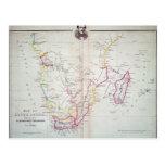 Mapa de la ilustración de Suráfrica Tarjetas Postales
