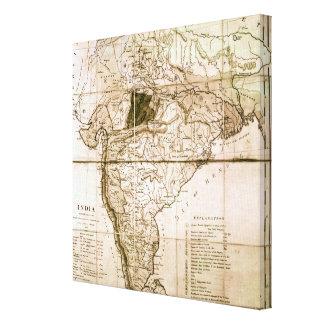 Mapa de la India, 1803 Impresión En Lienzo Estirada
