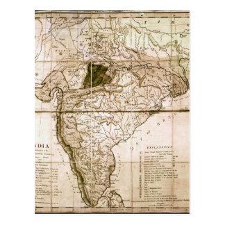 Mapa de la India, 1803 Postales