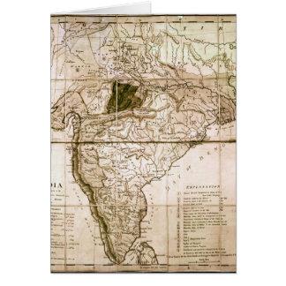 Mapa de la India, 1803 Tarjeta De Felicitación
