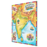 Mapa de la India Lona Estirada Galerias