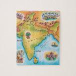 Mapa de la India Rompecabezas Con Fotos