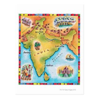 Mapa de la India Postal
