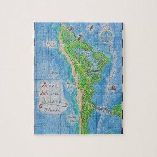 Mapa de la isla de Ana Maria Rompecabeza