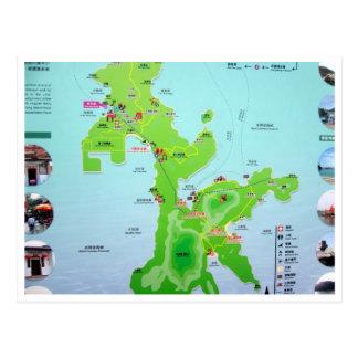 mapa de la isla de lamma tarjetas postales