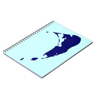 Mapa de la isla de Nantucket Libretas