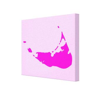 Mapa de la isla de Nantucket Lona Envuelta Para Galerías