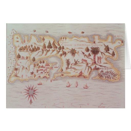 Mapa de la isla de Puerto Rico, 1599 Felicitacion