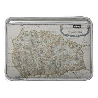 Mapa de la isla de St. Helena Fundas Para Macbook Air