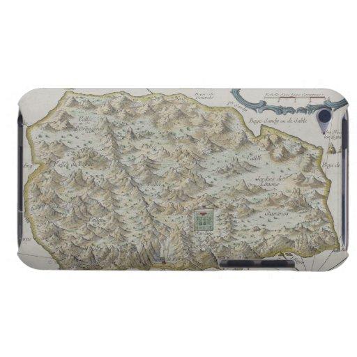 Mapa de la isla de St. Helena iPod Touch Case-Mate Fundas