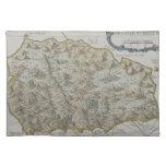 Mapa de la isla de St. Helena Mantel