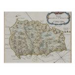 Mapa de la isla de St. Helena Tarjeta Postal