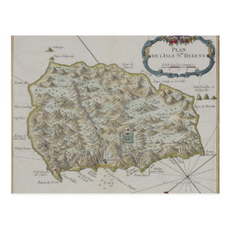 Mapa de la isla de St. Helena Postal
