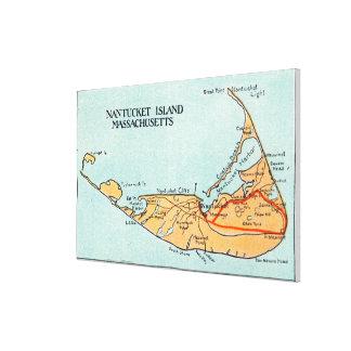 Mapa de la isla impresion en lona