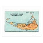 Mapa de la isla postales