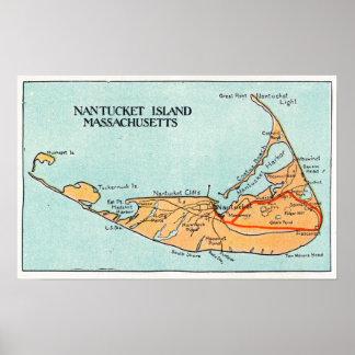 Mapa de la isla póster