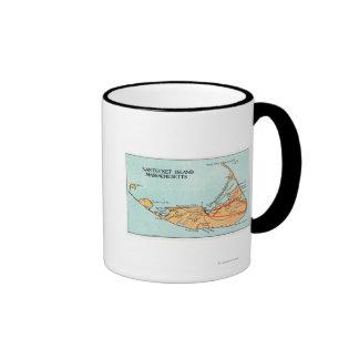 Mapa de la isla taza de dos colores