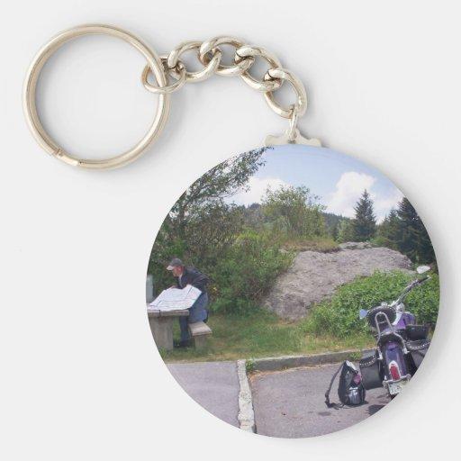 MAPA de la LECTURA del HOMBRE con la motocicleta Llaveros