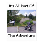 MAPA de la LECTURA del HOMBRE con la motocicleta Tarjeta Postal