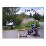 MAPA de la LECTURA del HOMBRE con la motocicleta Postal
