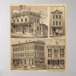 Mapa de la litografía de San Pablo, Minneapolis, M Poster