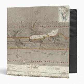 Mapa de la lluvia de Hyetographic