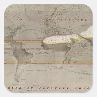 Mapa de la lluvia de Hyetographic Colcomanias Cuadradases