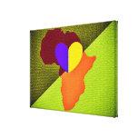 Mapa de la lona de África Lienzo Envuelto Para Galerías