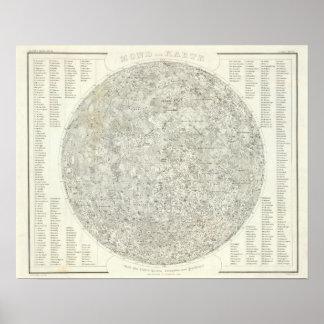Mapa de la luna impresiones
