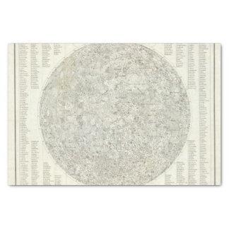 Mapa de la luna papel de seda pequeño