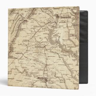 """Mapa de la marca del telegrama de la guerra carpeta 1 1/2"""""""