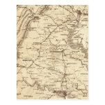 Mapa de la marca del telegrama de la guerra postal