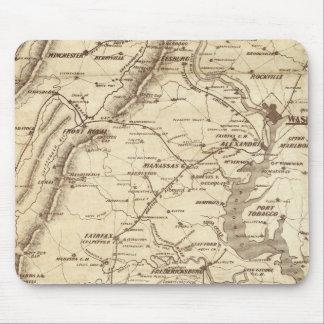 Mapa de la marca del telegrama de la guerra tapete de ratón