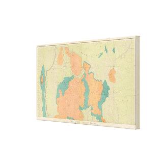 Mapa de la meseta de Uinkaret Lona Estirada Galerias