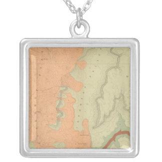 Mapa de la mitad del sur de la meseta de Uinkaret Colgante Cuadrado