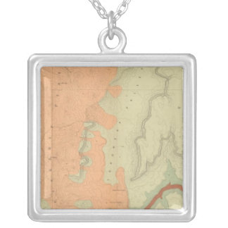 Mapa de la mitad del sur de la meseta de Uinkaret Collar Plateado