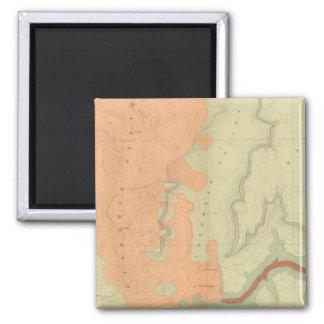 Mapa de la mitad del sur de la meseta de Uinkaret Imán Cuadrado