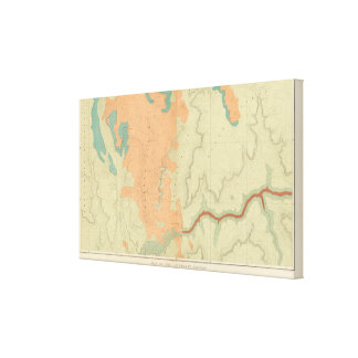 Mapa de la mitad del sur de la meseta de Uinkaret Impresión En Lienzo Estirada